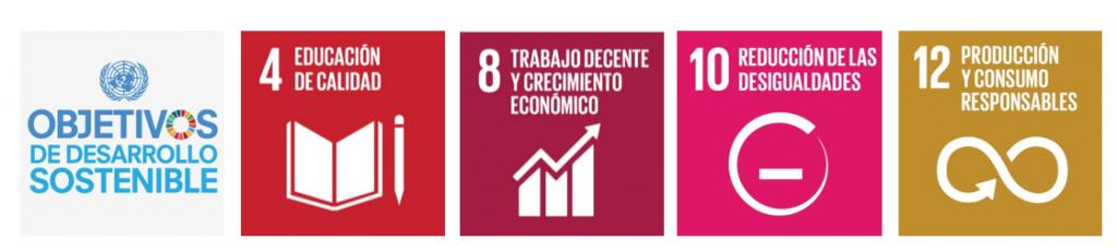 ods - objetivos de desarrollo sostenible, ods 4 - ods8 - ods 10 -ods 12